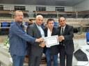 A honraria foi entregue ao Pastor Arione Lima - Assembléia  de Deus.