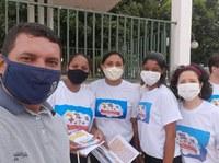 PARANATINGA – Pit Stop em comemoração ao Dia Mundial de Combate ao Trabalho Infantil é acompanhado pelo Vereador Labiga
