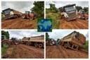A situação chega a ser de calamidade segundo os produtores da região com as chuvas para escoamento da safra