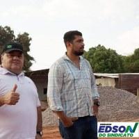 Vereador Edson do Sindicato acompanha e fiscaliza início da construção da Ponte de Concreto da Bica Dagua
