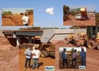 Vereador Edson do Sindicato acompanha o andamento da obra na ponte de concreto do Anel Viário juntamente com o Prefeito Marquinhos