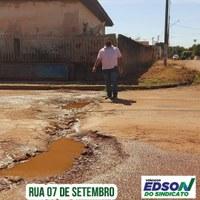Vereador Edson do Sindicato diz que bairro Novo Horizonte pede socorro
