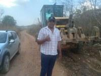 Vereador Nego do Rodeio agradece o Executivo e Secretaria de Obras por atender demanda em estrada